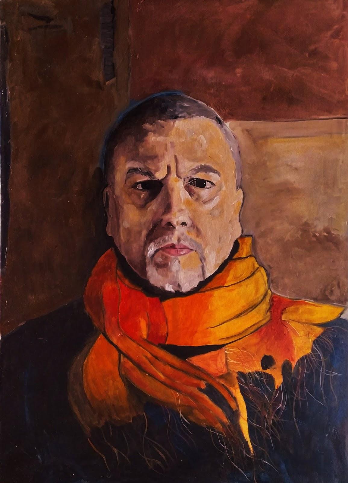 Titolo: Autoritratto - Olio su tela- 50x70cm - Autore: Gianmichele De Mauro